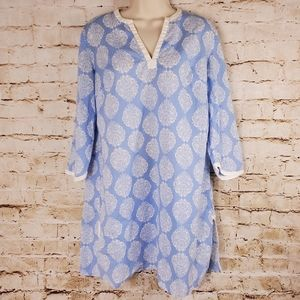 Lilly Pulitzer Blue White Medallion Cover Up Sz S